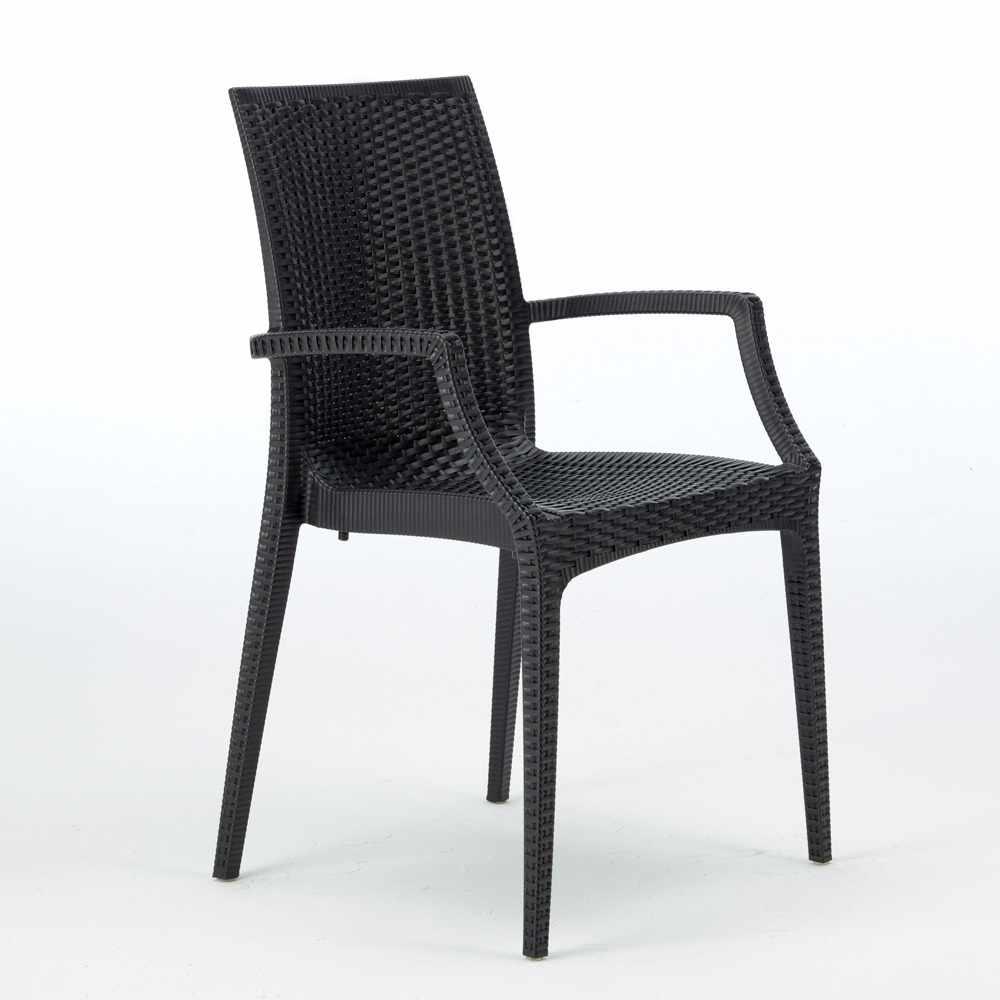 miniature 14 - Chaises de jardin fauteuil accoudoirs bar café restaurants en Poly-rotin BISTROT
