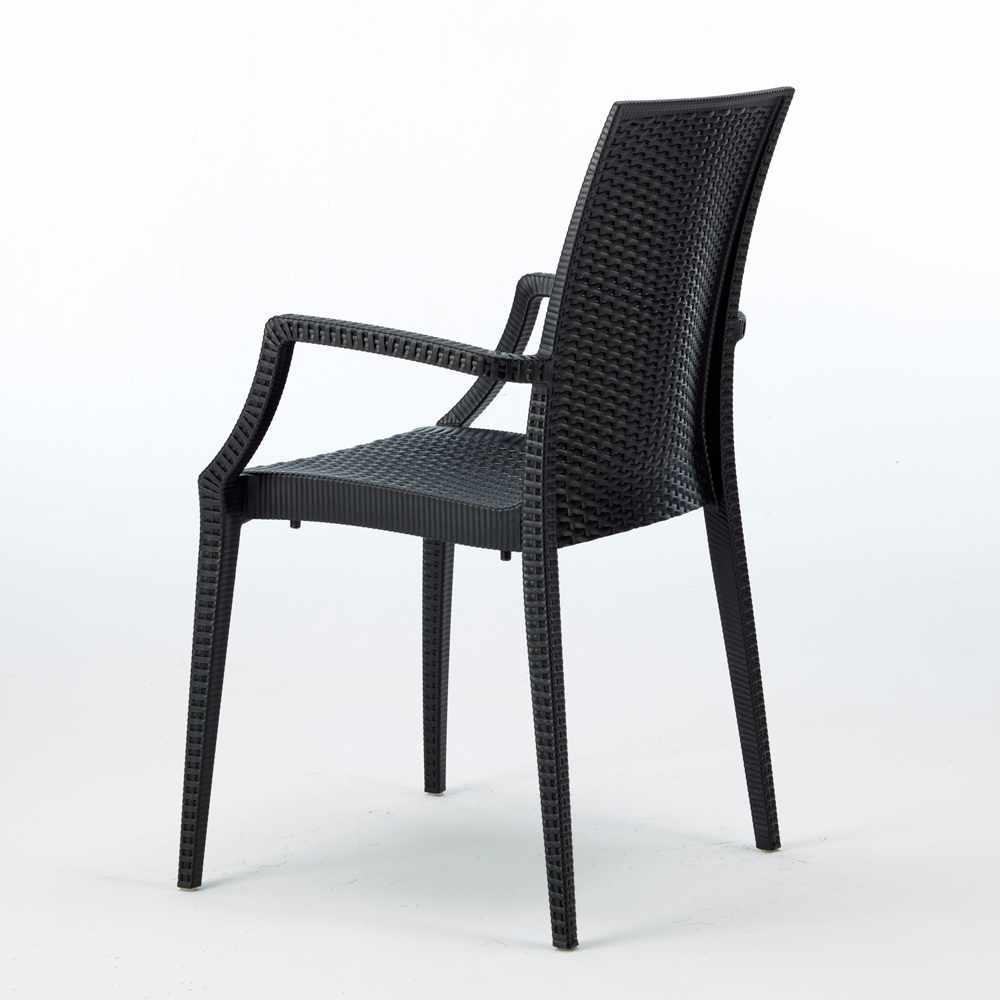 miniature 15 - Chaises de jardin fauteuil accoudoirs bar café restaurants en Poly-rotin BISTROT