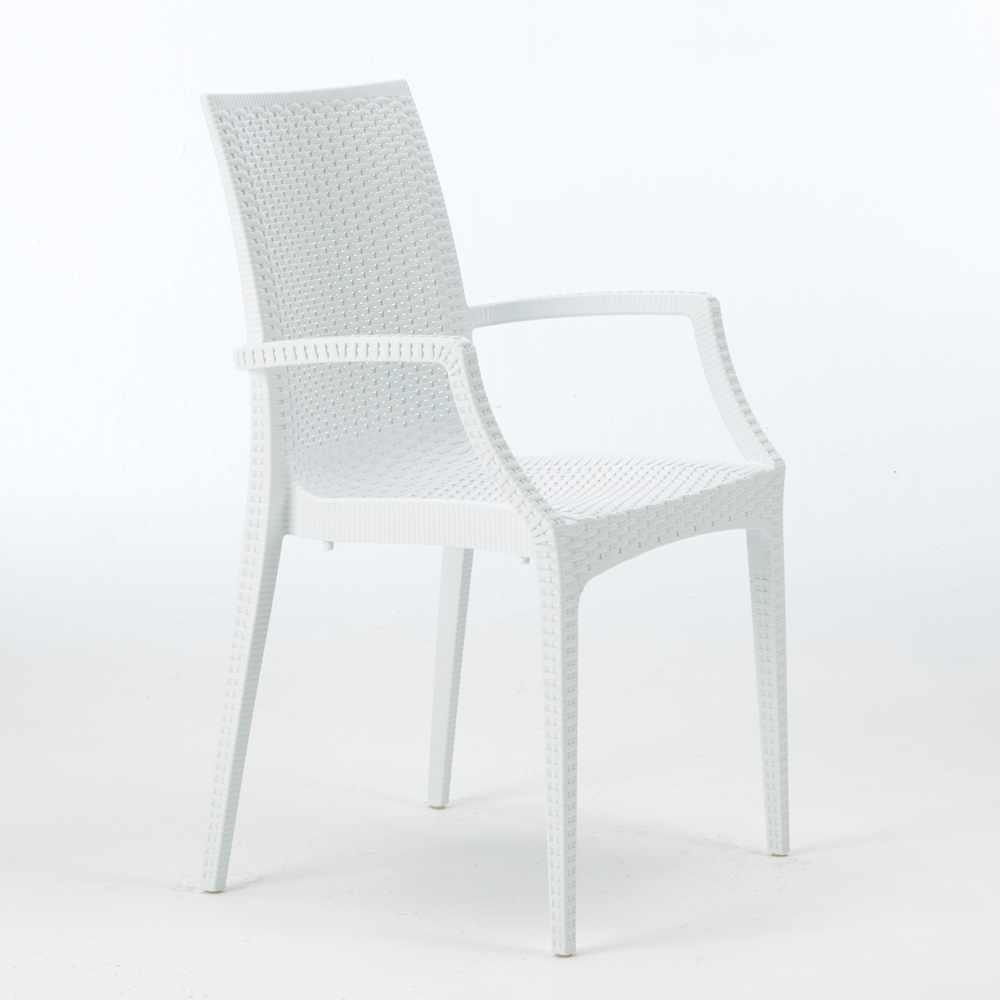 miniature 31 - Chaises de jardin fauteuil accoudoirs bar café restaurants en Poly-rotin BISTROT