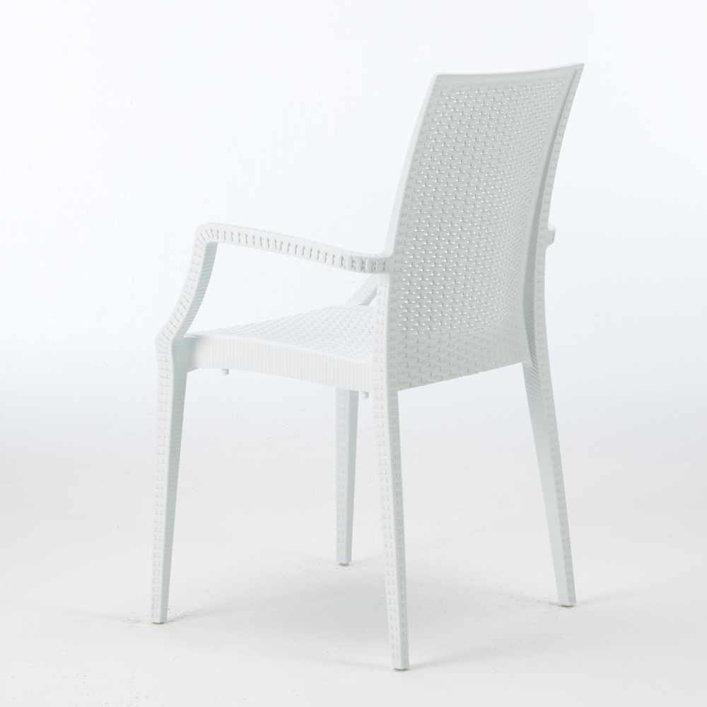 miniature 32 - Chaises de jardin fauteuil accoudoirs bar café restaurants en Poly-rotin BISTROT