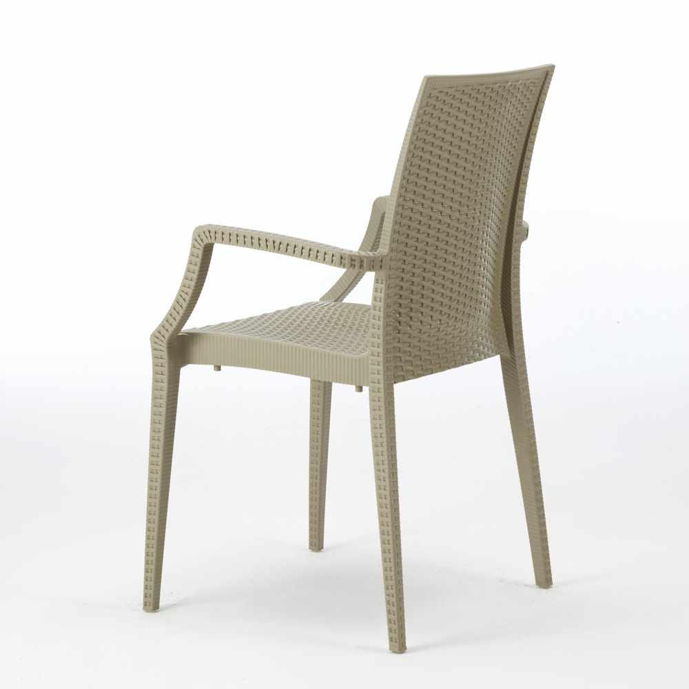 miniature 20 - Chaises de jardin fauteuil accoudoirs bar café restaurants en Poly-rotin BISTROT