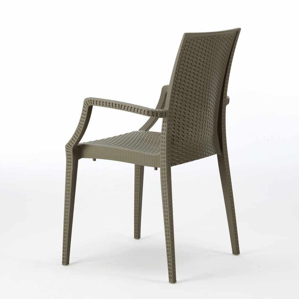 miniature 26 - Chaises de jardin fauteuil accoudoirs bar café restaurants en Poly-rotin BISTROT