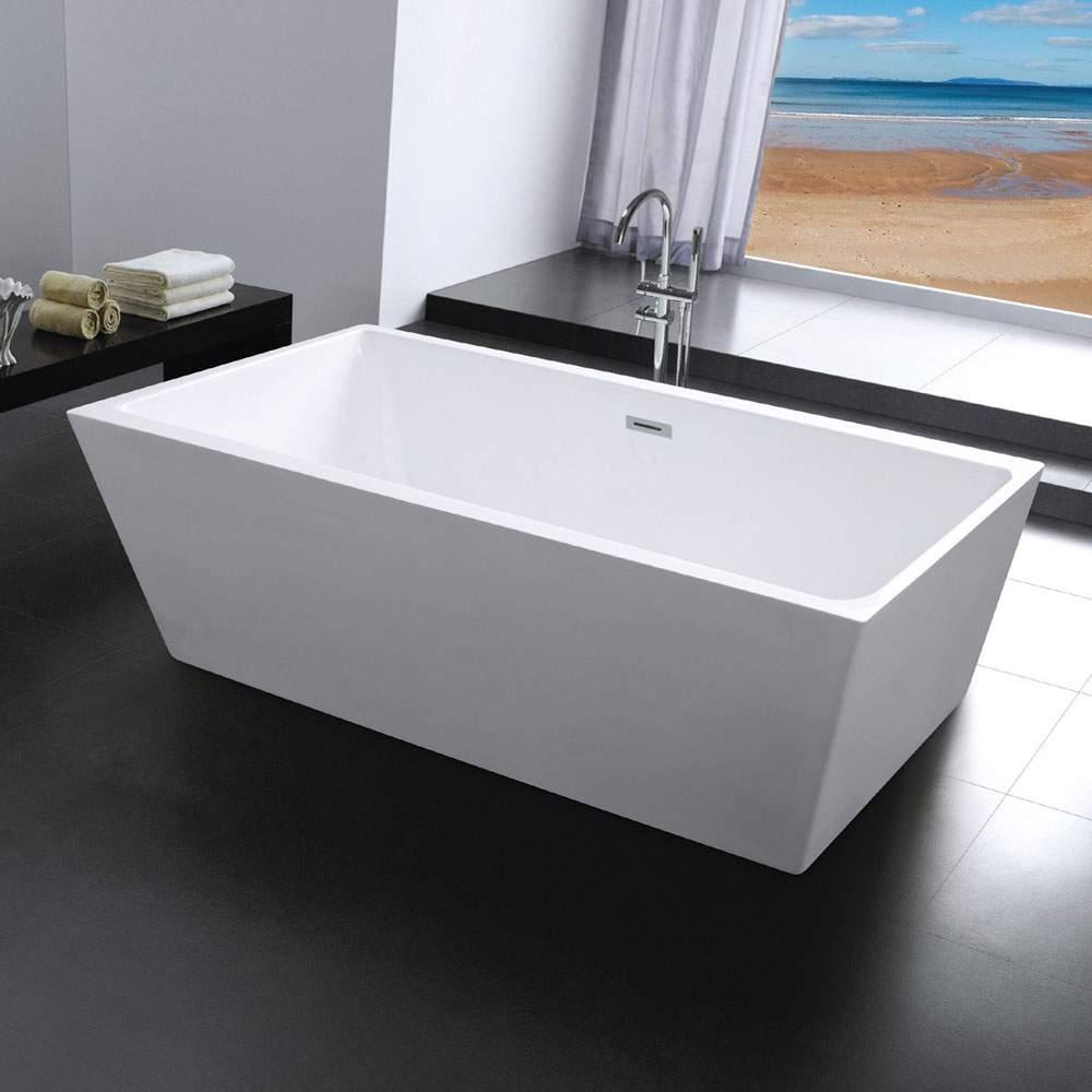 Milo Baignoire Ilot Rectangulaire Autoportante Design Moderne Elegant
