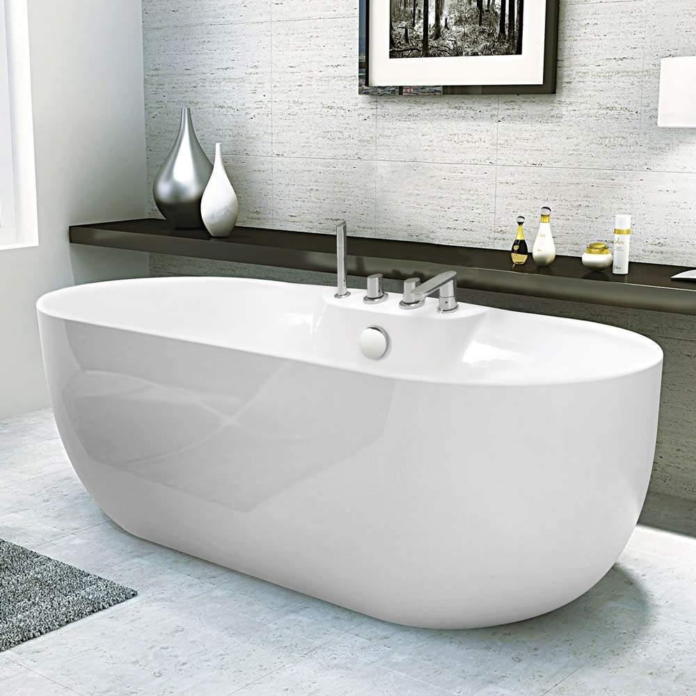 Baignoire Independante Renforcee Effet Lumineux Design Elegant Atmosphere