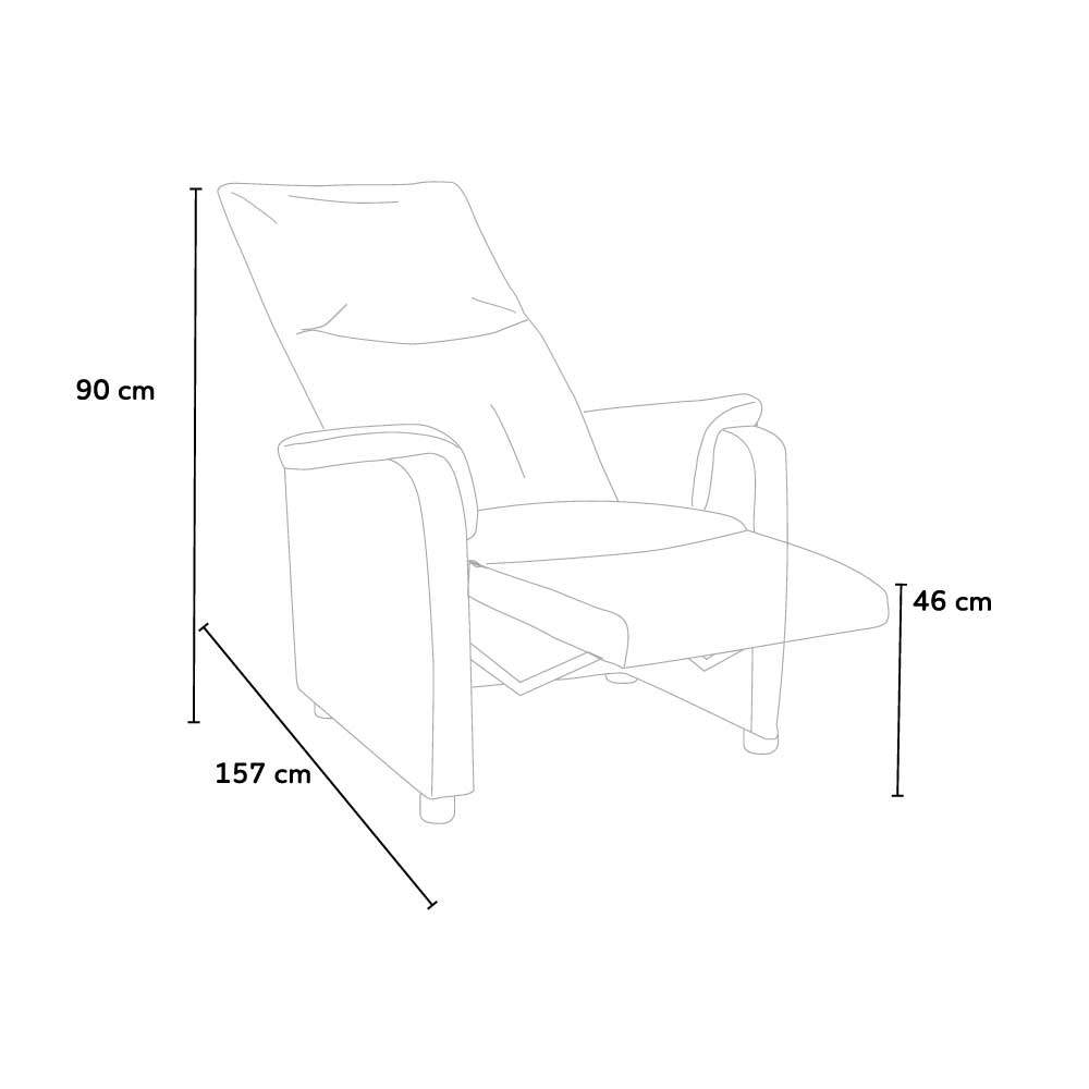 Fauteuil-relax-inclinable-avec-repose-pieds-en-similcuir-GIULIA miniature 20