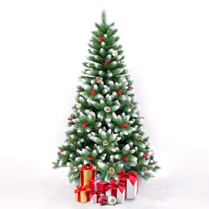 ROVANIEMI: Sapin de Noël artificiel 210 cm décorations traditionnelles