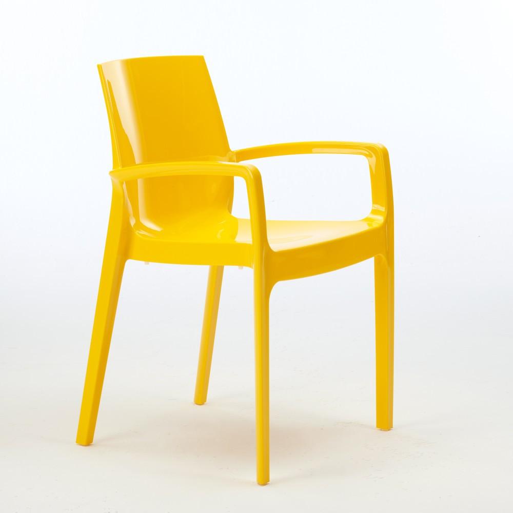 miniature 19 - Chaise polypropylène empilable avec accoudoirs salle à manger Cream Grand Soleil