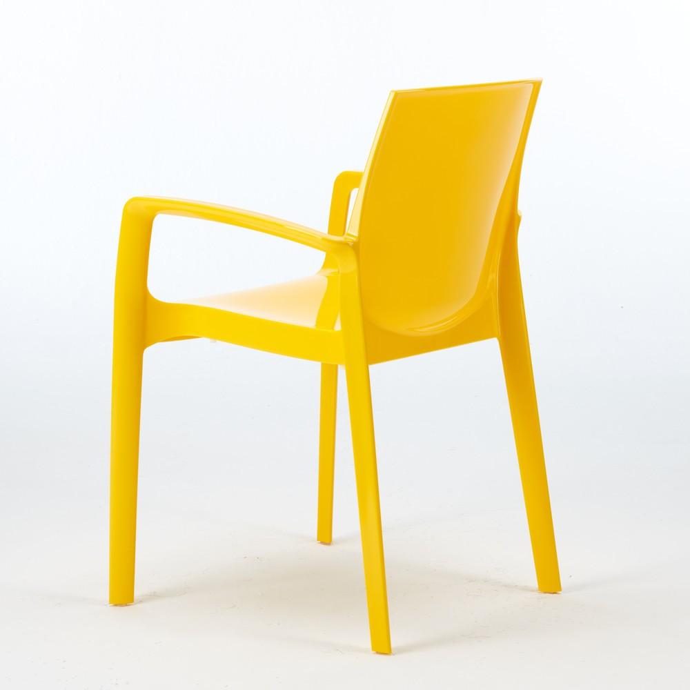 miniature 20 - Chaise polypropylène empilable avec accoudoirs salle à manger Cream Grand Soleil