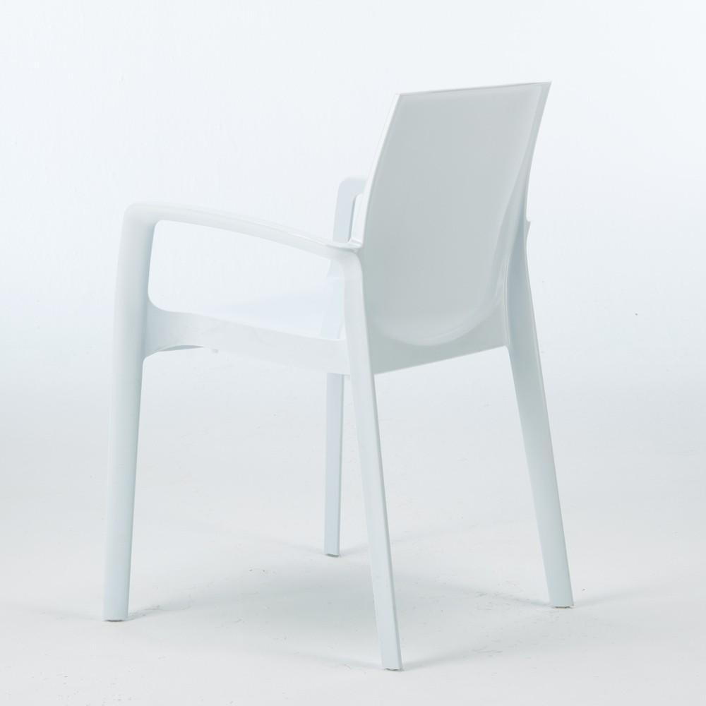 miniature 14 - Chaise polypropylène empilable avec accoudoirs salle à manger Cream Grand Soleil