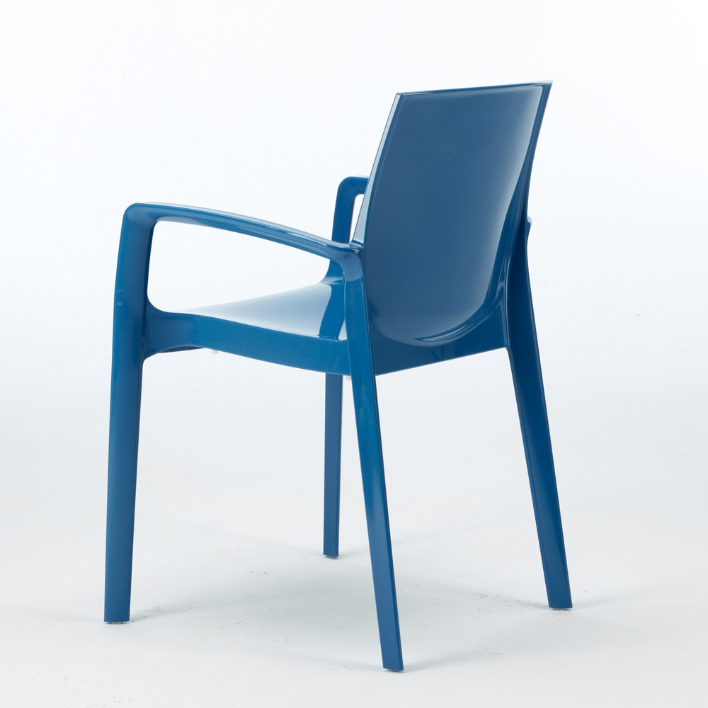miniature 30 - Chaise polypropylène empilable avec accoudoirs salle à manger Cream Grand Soleil