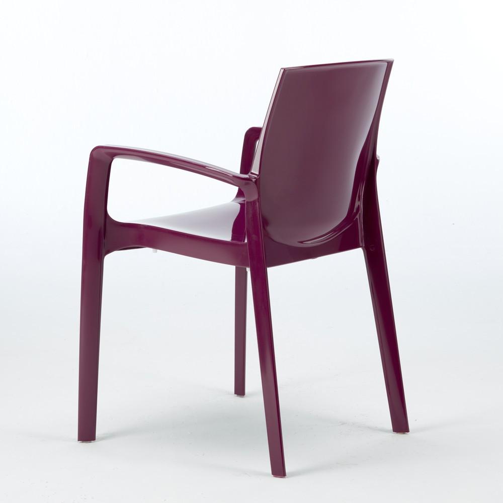 miniature 25 - Chaise polypropylène empilable avec accoudoirs salle à manger Cream Grand Soleil