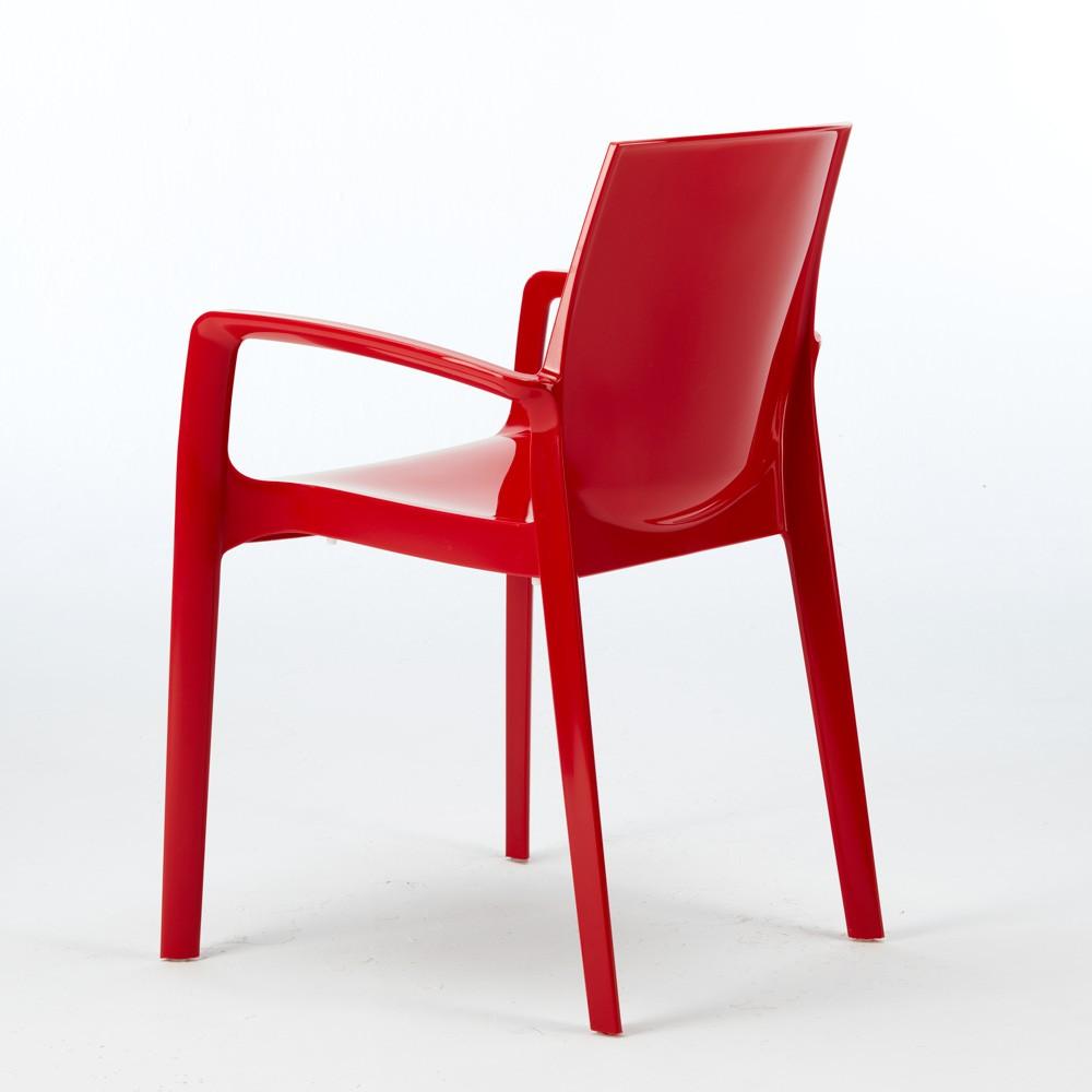 miniature 35 - Chaise polypropylène empilable avec accoudoirs salle à manger Cream Grand Soleil