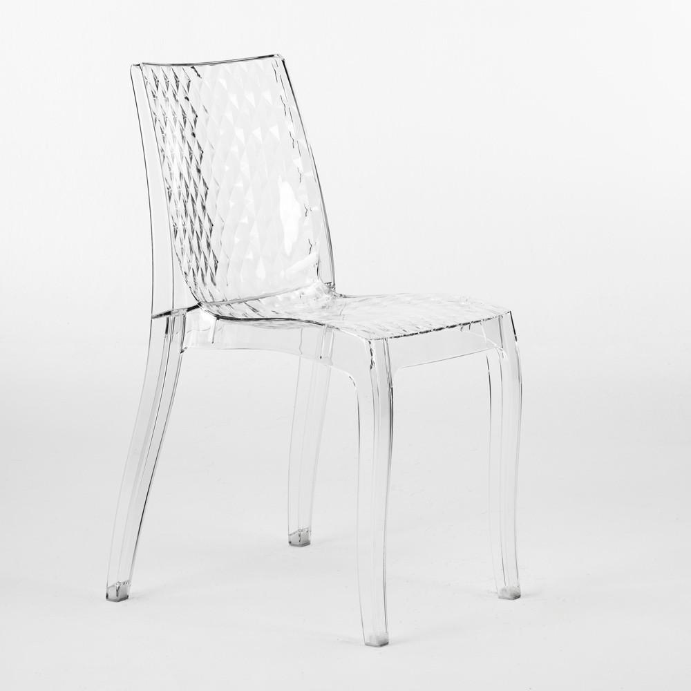 miniature 16 - Chaise salle à manger bar en transparent empilable HYPNOTIC Grand Soleil