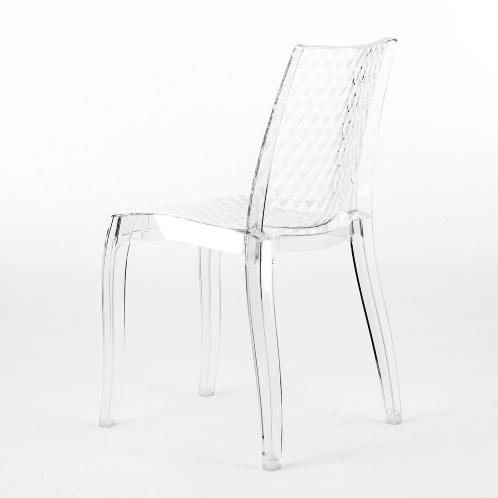 miniature 17 - Chaise salle à manger bar en transparent empilable HYPNOTIC Grand Soleil