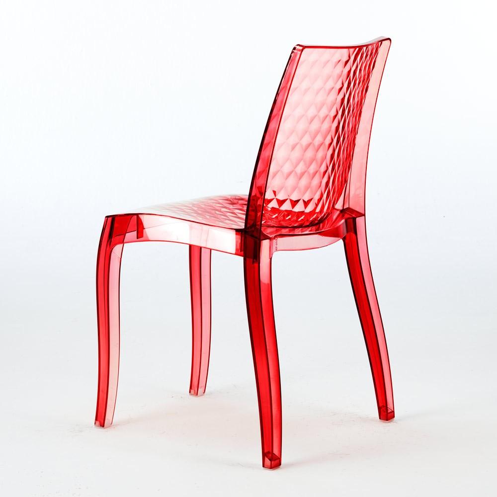 miniature 11 - Chaise salle à manger bar en transparent empilable HYPNOTIC Grand Soleil
