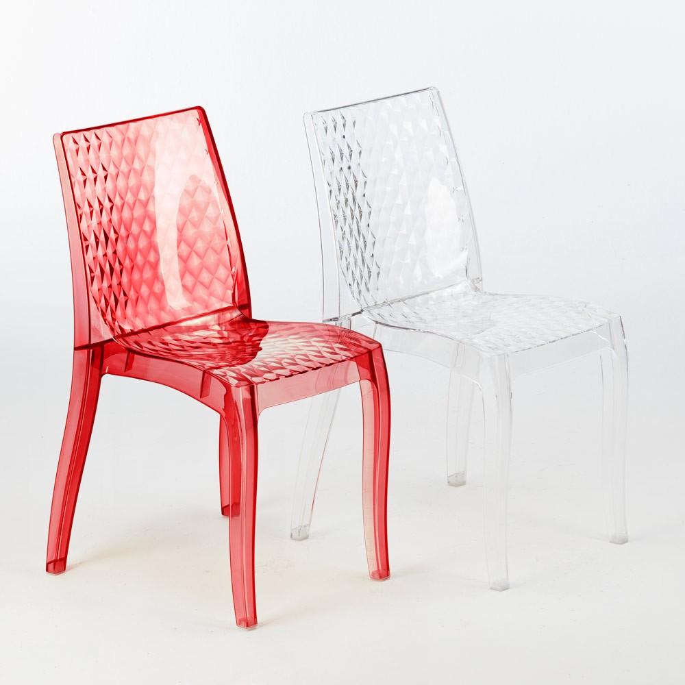 miniature 18 - Chaise salle à manger bar en transparent empilable HYPNOTIC Grand Soleil