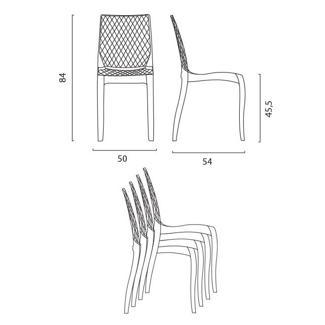 miniature 19 - Chaise salle à manger bar en transparent empilable HYPNOTIC Grand Soleil