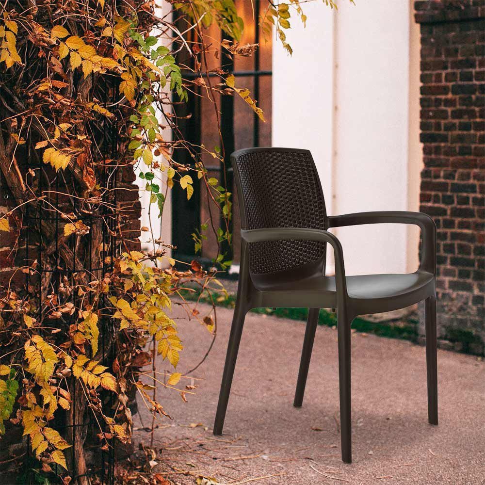 miniature 36 - Chaises de Jardin Boheme Grand Soleil Bar avec accoudoirs Poly-rotin