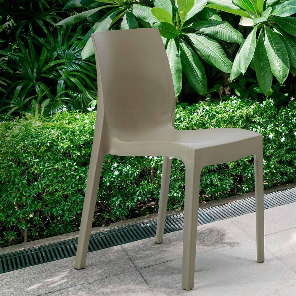 miniature 54 - Chaise en polypropylène empilable Salle à Manger café bar Rome Grand Soleil