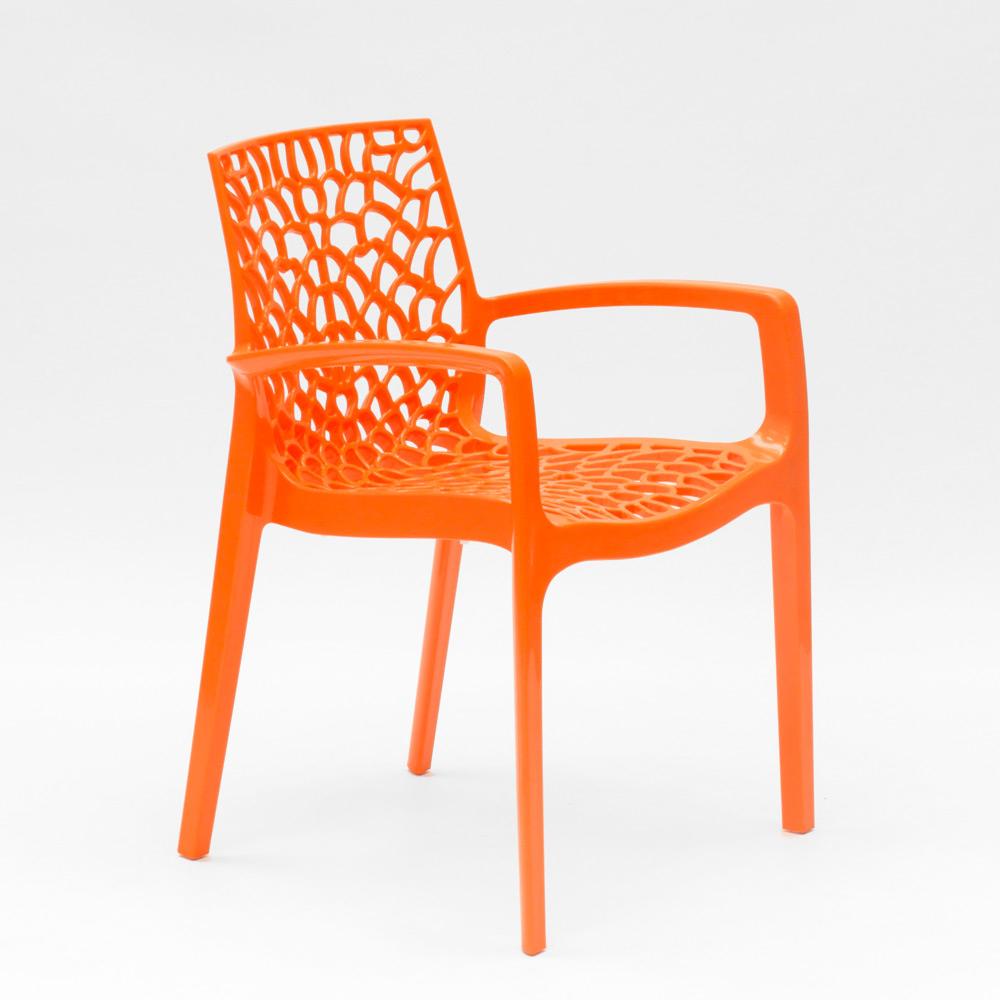 miniature 32 - Chaise en polypropylène accoudoirs jardin café Grand Soleil Gruvyer Arm
