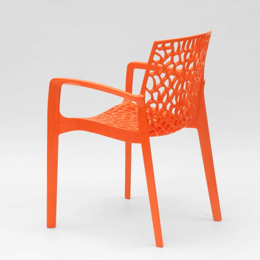miniature 33 - Chaise en polypropylène accoudoirs jardin café Grand Soleil Gruvyer Arm