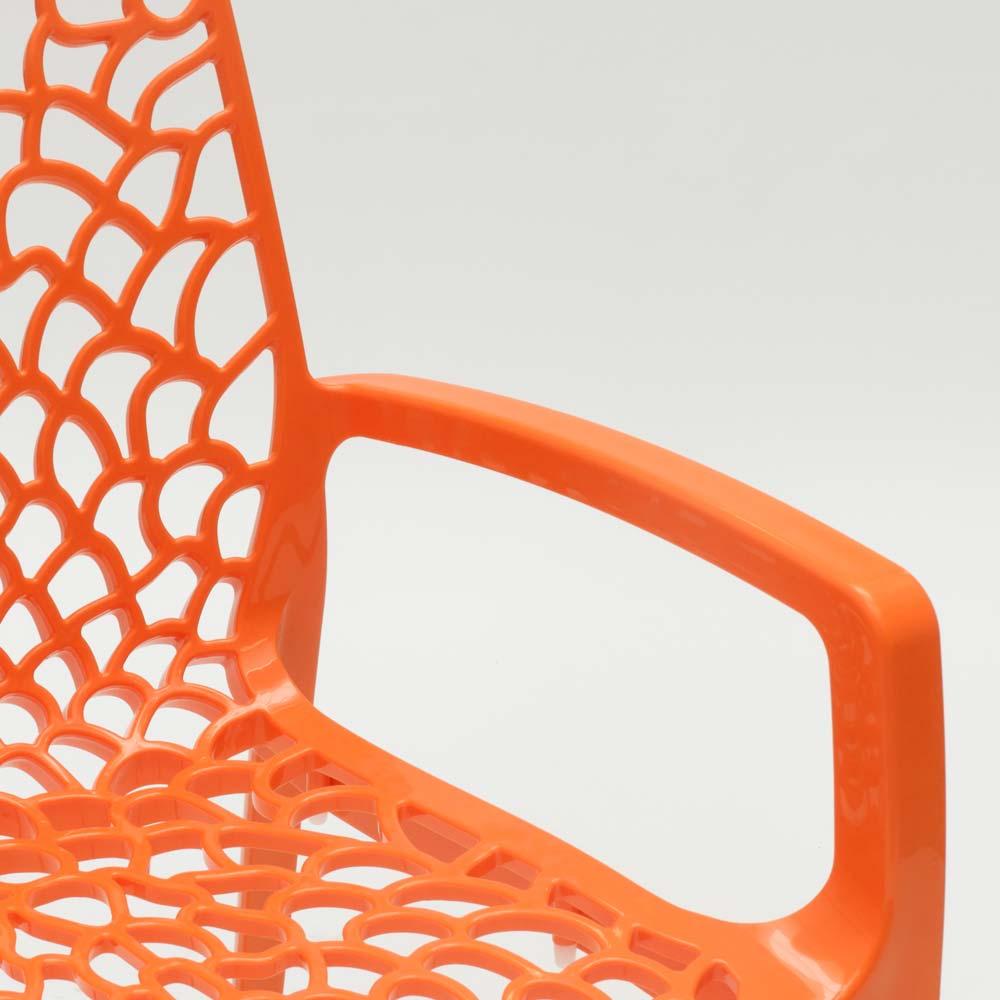 miniature 34 - Chaise en polypropylène accoudoirs jardin café Grand Soleil Gruvyer Arm