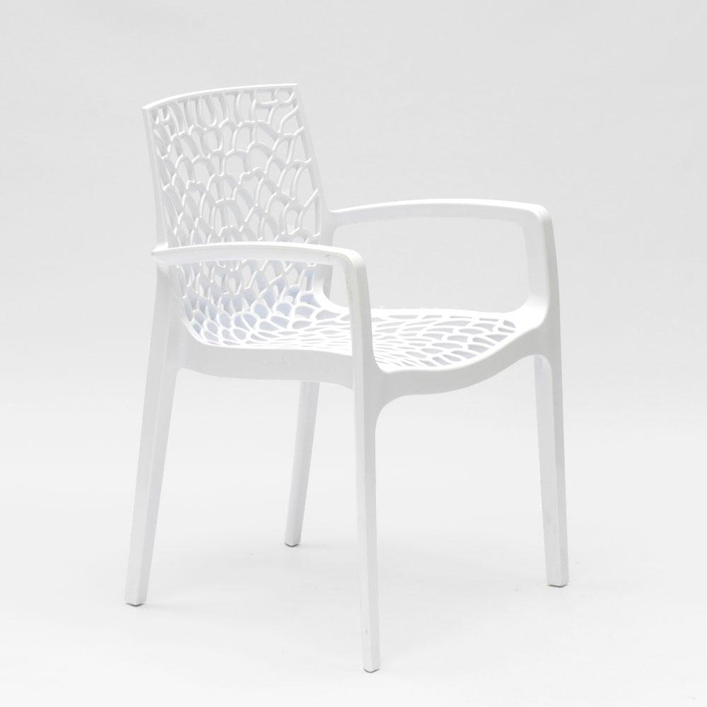 miniature 14 - Chaise en polypropylène accoudoirs jardin café Grand Soleil Gruvyer Arm