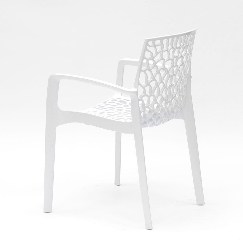 miniature 15 - Chaise en polypropylène accoudoirs jardin café Grand Soleil Gruvyer Arm