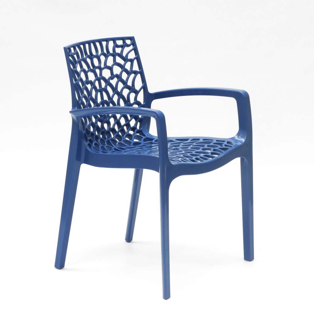 miniature 86 - Chaise en polypropylène accoudoirs jardin café Grand Soleil Gruvyer Arm