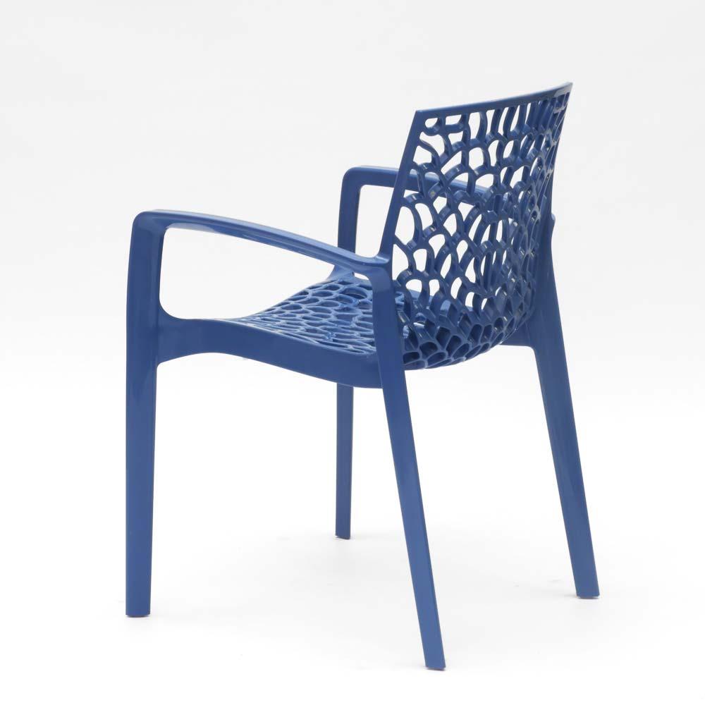 miniature 87 - Chaise en polypropylène accoudoirs jardin café Grand Soleil Gruvyer Arm