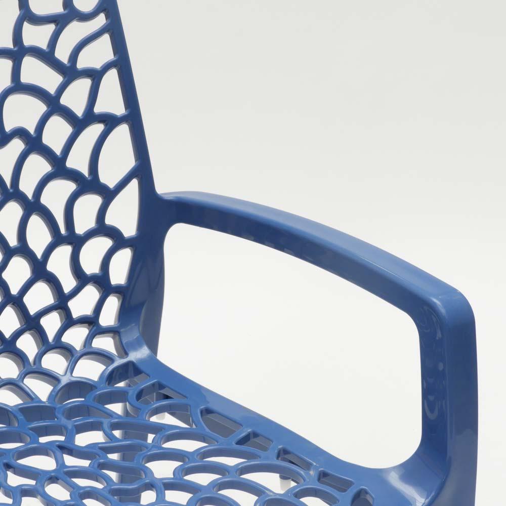 miniature 88 - Chaise en polypropylène accoudoirs jardin café Grand Soleil Gruvyer Arm