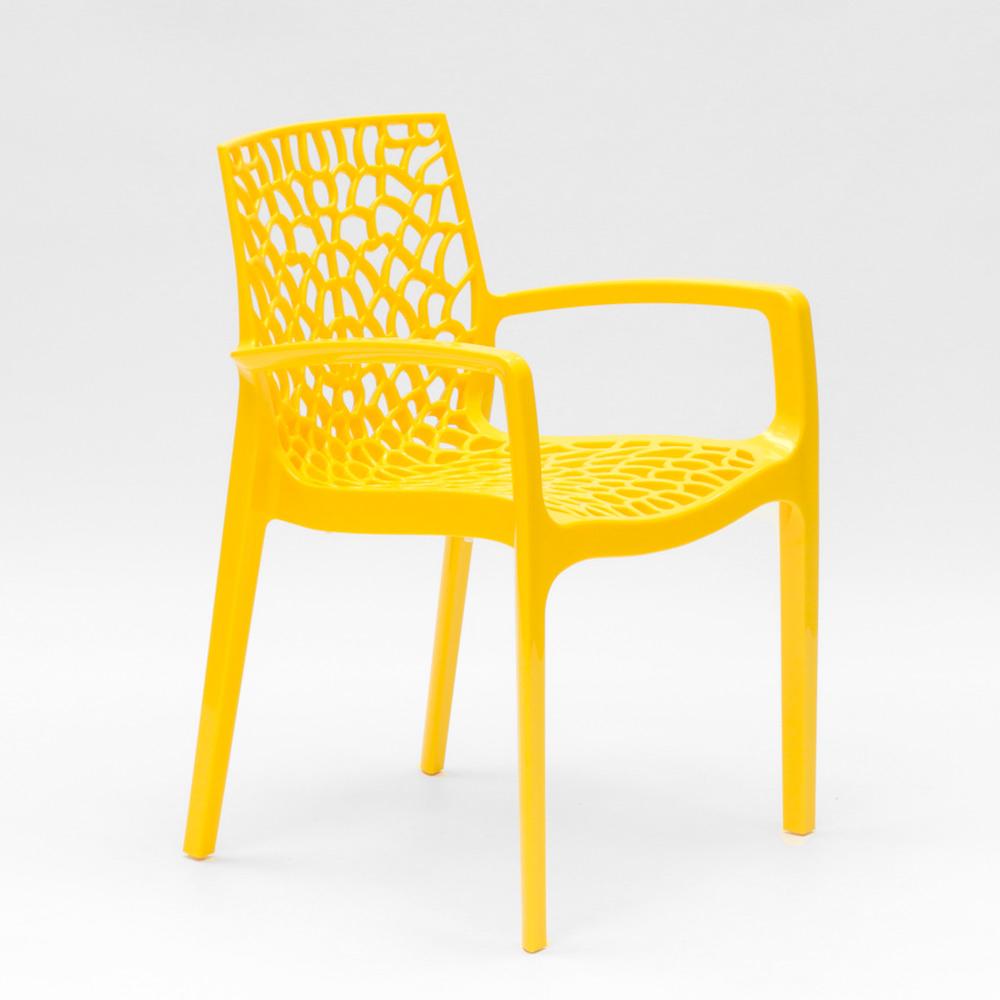 miniature 41 - Chaise en polypropylène accoudoirs jardin café Grand Soleil Gruvyer Arm