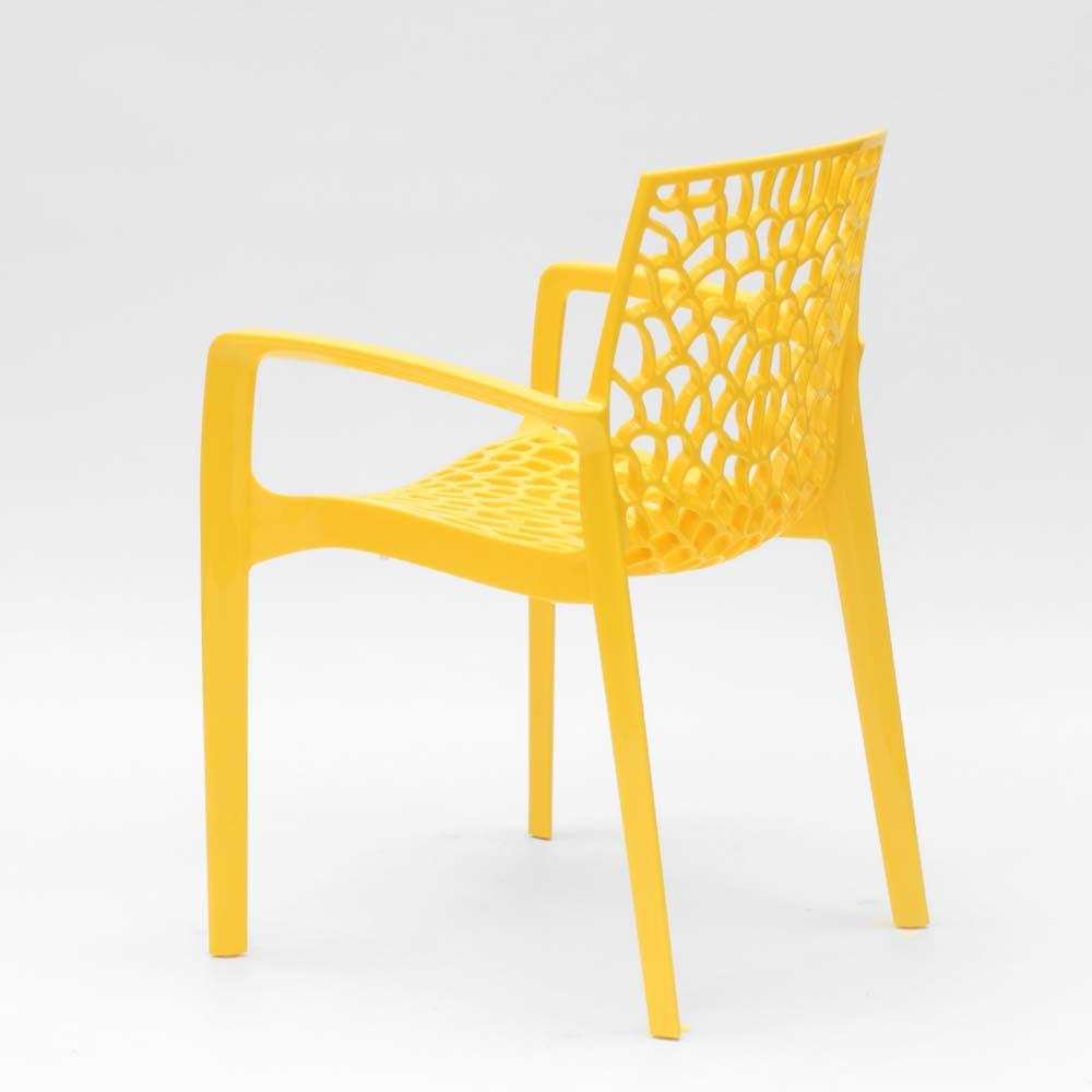 miniature 42 - Chaise en polypropylène accoudoirs jardin café Grand Soleil Gruvyer Arm