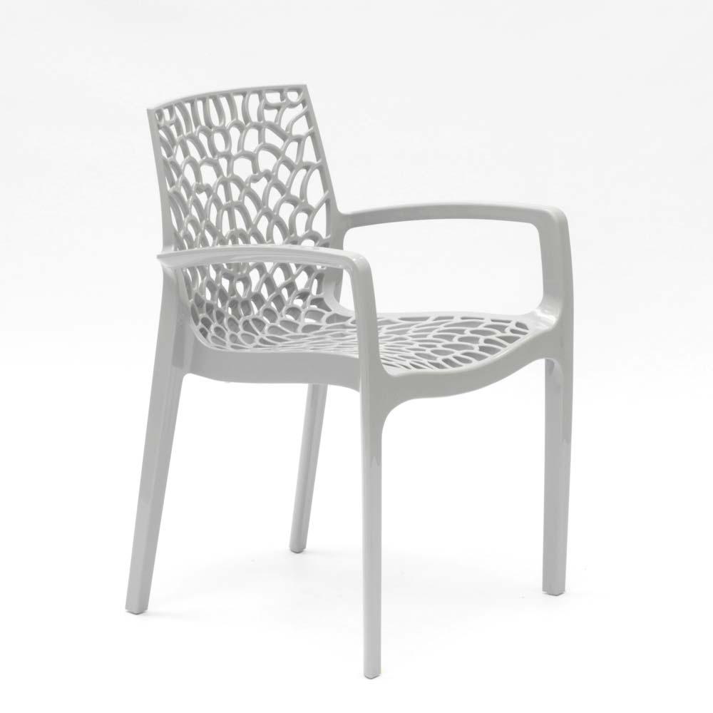miniature 50 - Chaise en polypropylène accoudoirs jardin café Grand Soleil Gruvyer Arm