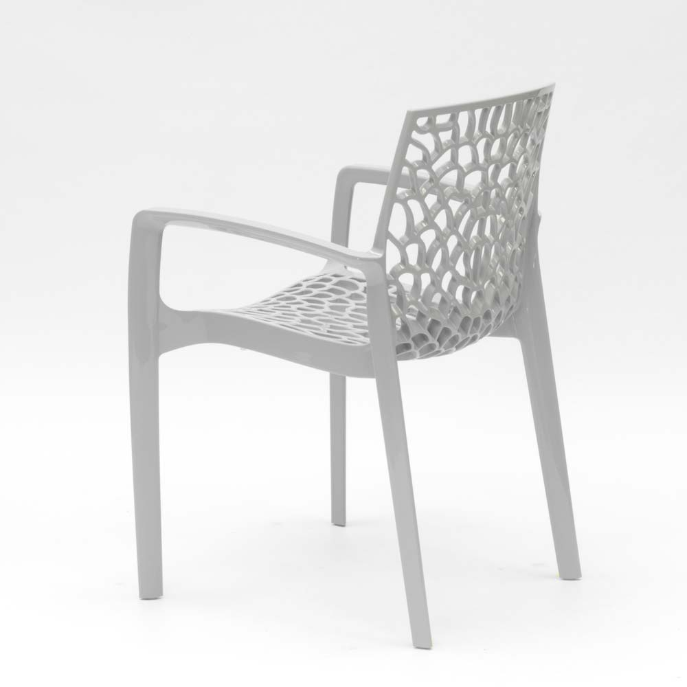 miniature 51 - Chaise en polypropylène accoudoirs jardin café Grand Soleil Gruvyer Arm