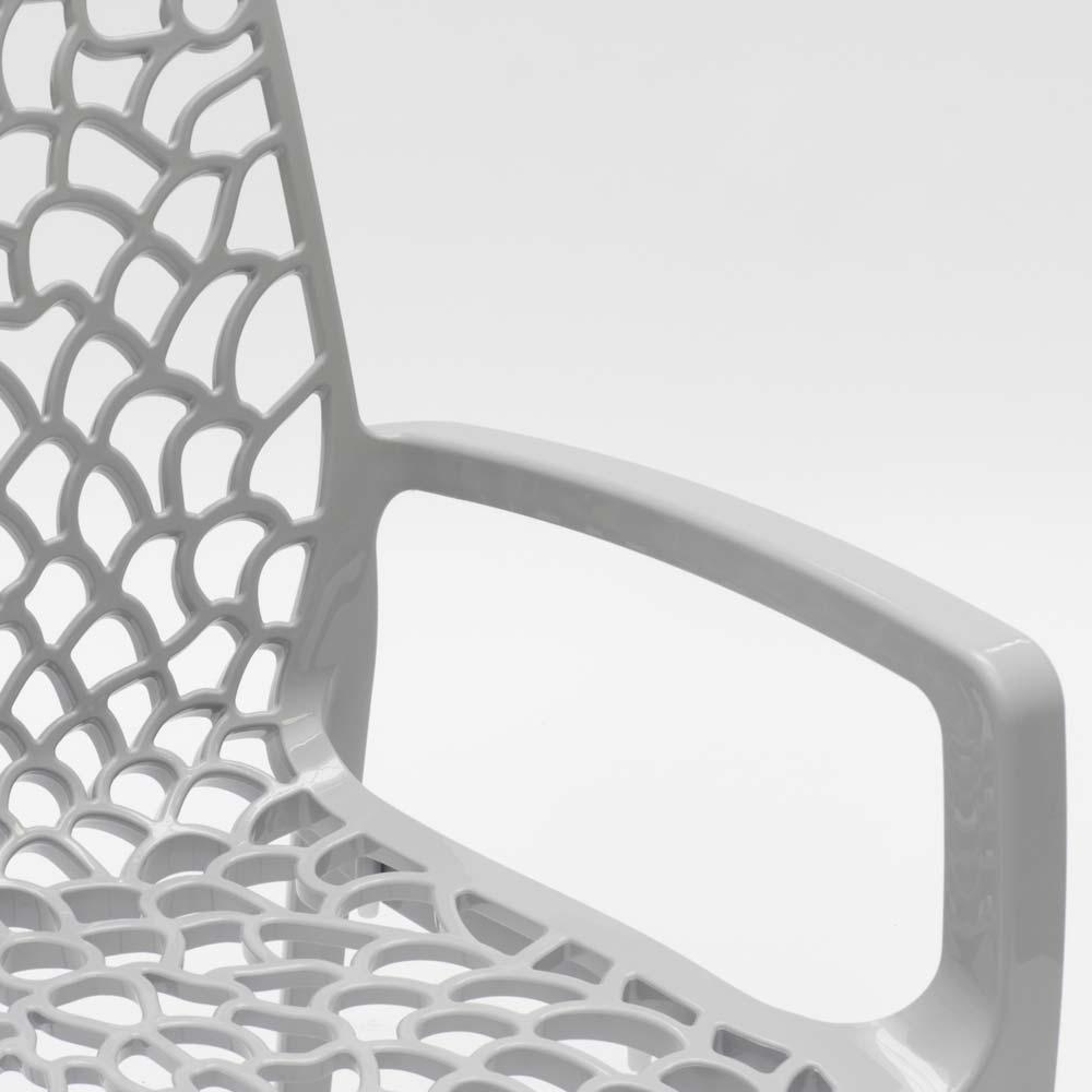 miniature 52 - Chaise en polypropylène accoudoirs jardin café Grand Soleil Gruvyer Arm