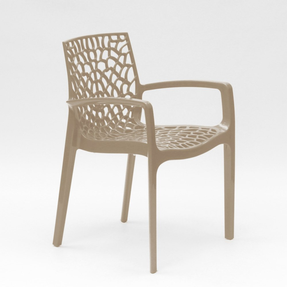 miniature 95 - Chaise en polypropylène accoudoirs jardin café Grand Soleil Gruvyer Arm