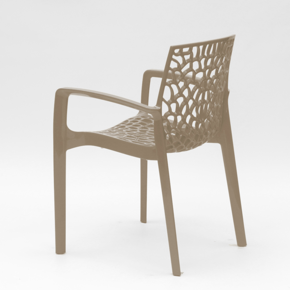 miniature 96 - Chaise en polypropylène accoudoirs jardin café Grand Soleil Gruvyer Arm