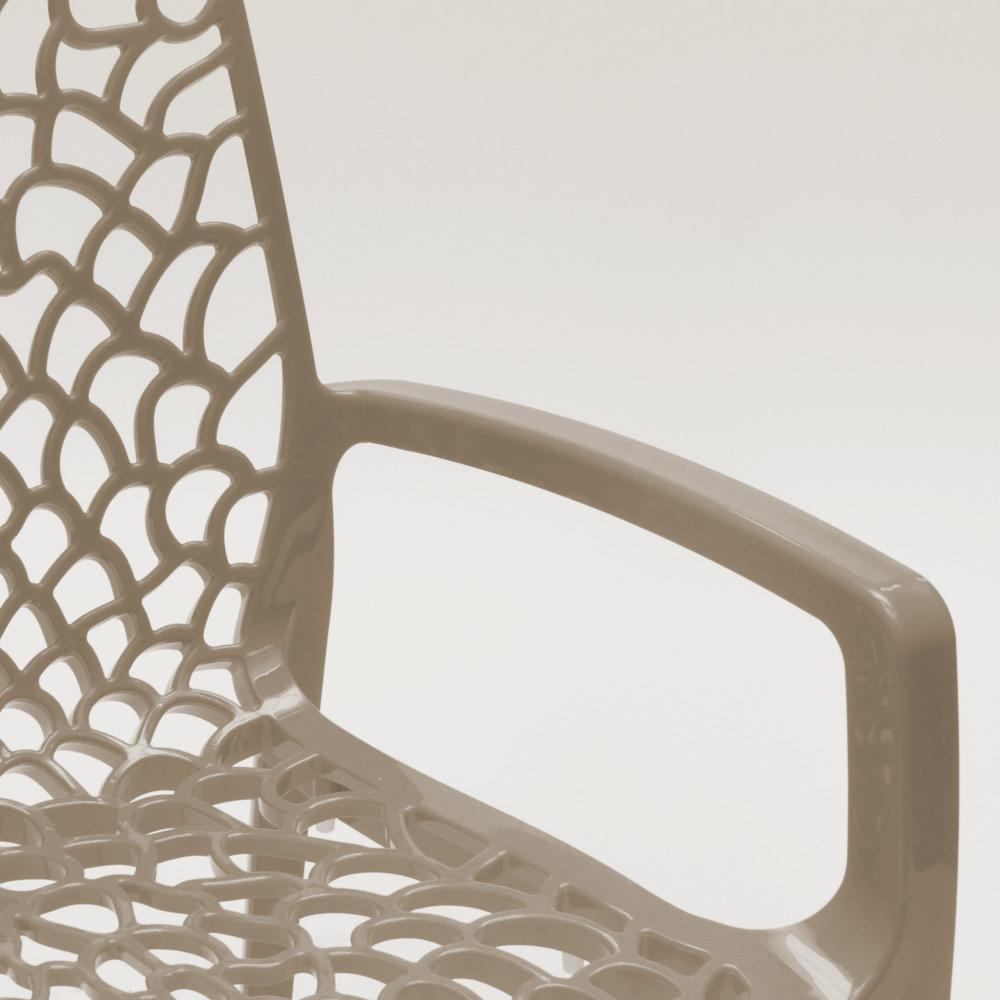 miniature 97 - Chaise en polypropylène accoudoirs jardin café Grand Soleil Gruvyer Arm
