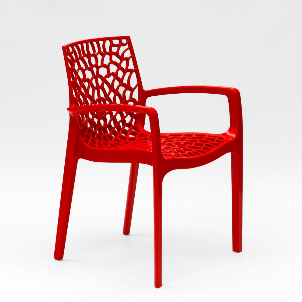 miniature 59 - Chaise en polypropylène accoudoirs jardin café Grand Soleil Gruvyer Arm