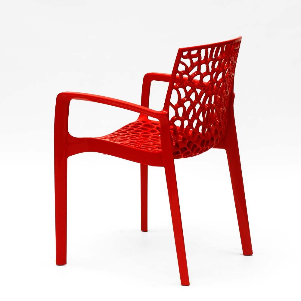 miniature 60 - Chaise en polypropylène accoudoirs jardin café Grand Soleil Gruvyer Arm
