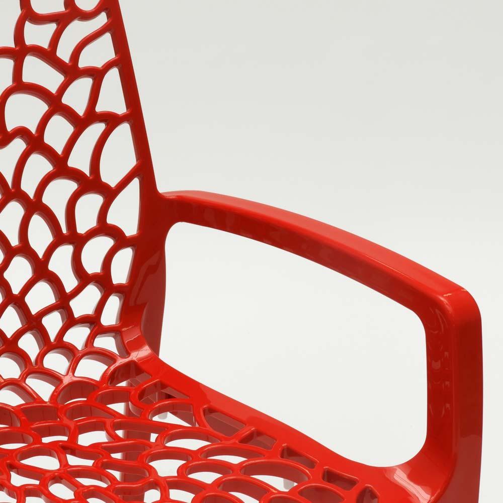 miniature 61 - Chaise en polypropylène accoudoirs jardin café Grand Soleil Gruvyer Arm
