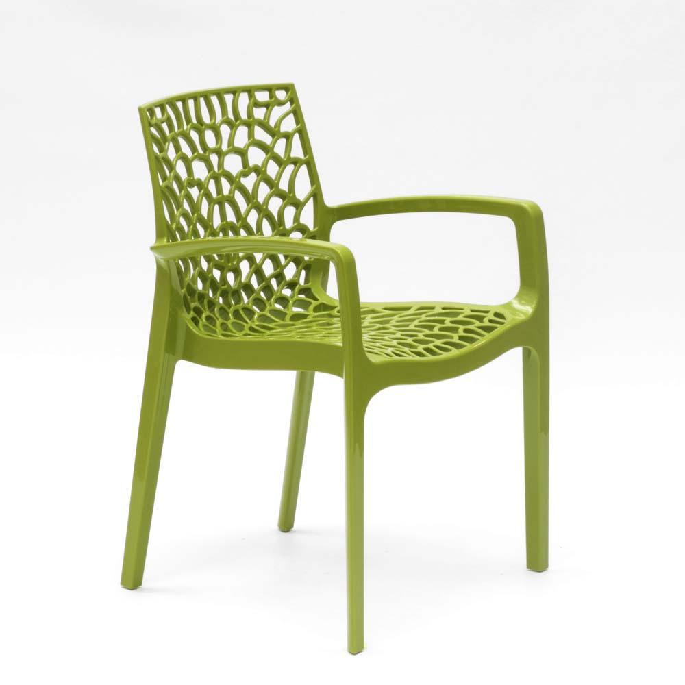 miniature 68 - Chaise en polypropylène accoudoirs jardin café Grand Soleil Gruvyer Arm