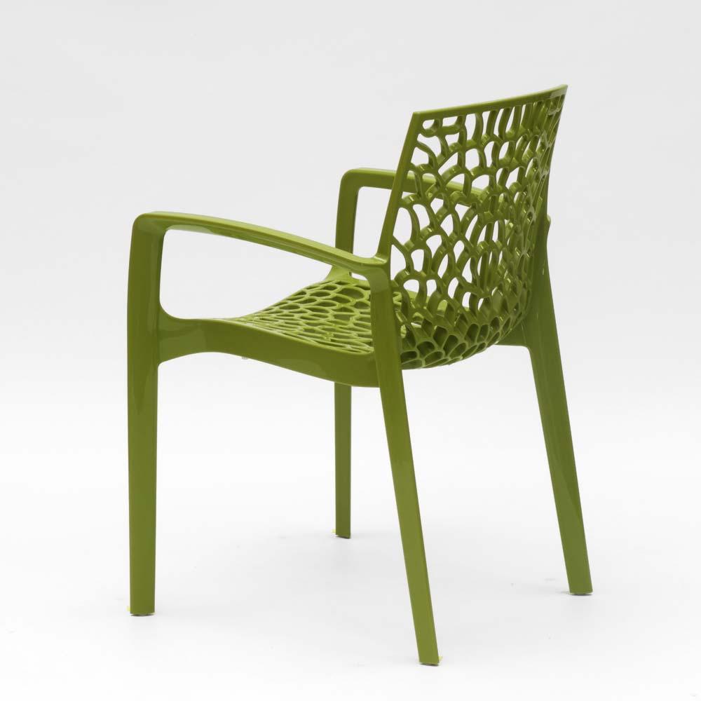 miniature 69 - Chaise en polypropylène accoudoirs jardin café Grand Soleil Gruvyer Arm