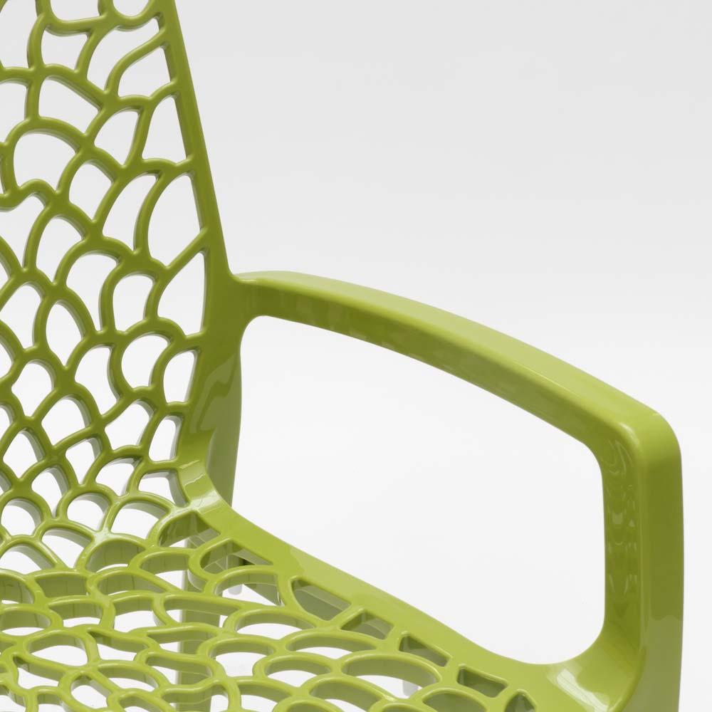 miniature 70 - Chaise en polypropylène accoudoirs jardin café Grand Soleil Gruvyer Arm