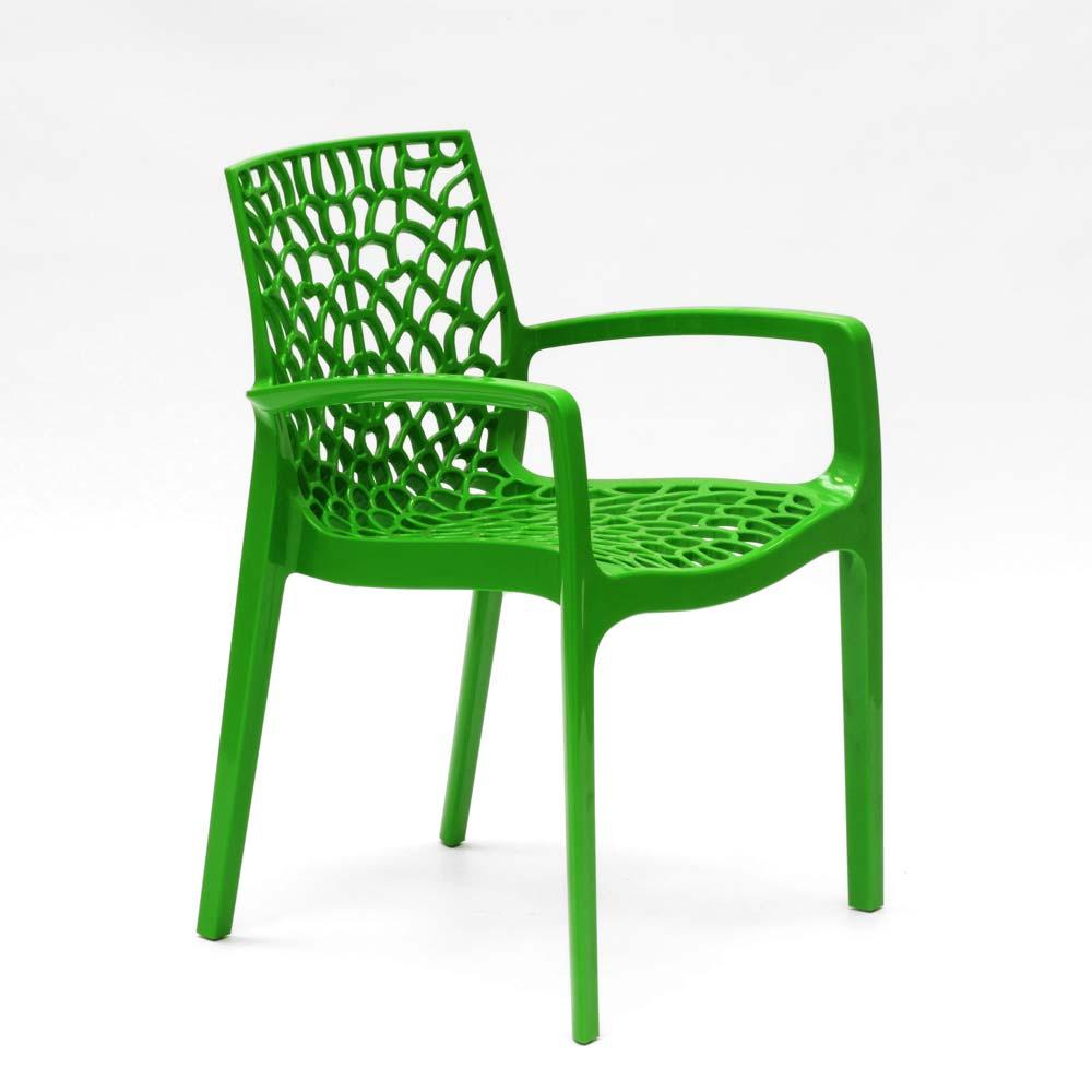 miniature 77 - Chaise en polypropylène accoudoirs jardin café Grand Soleil Gruvyer Arm
