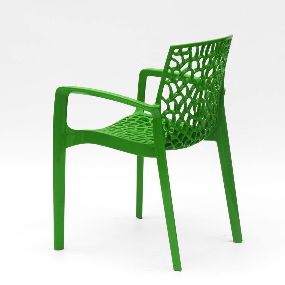 miniature 78 - Chaise en polypropylène accoudoirs jardin café Grand Soleil Gruvyer Arm