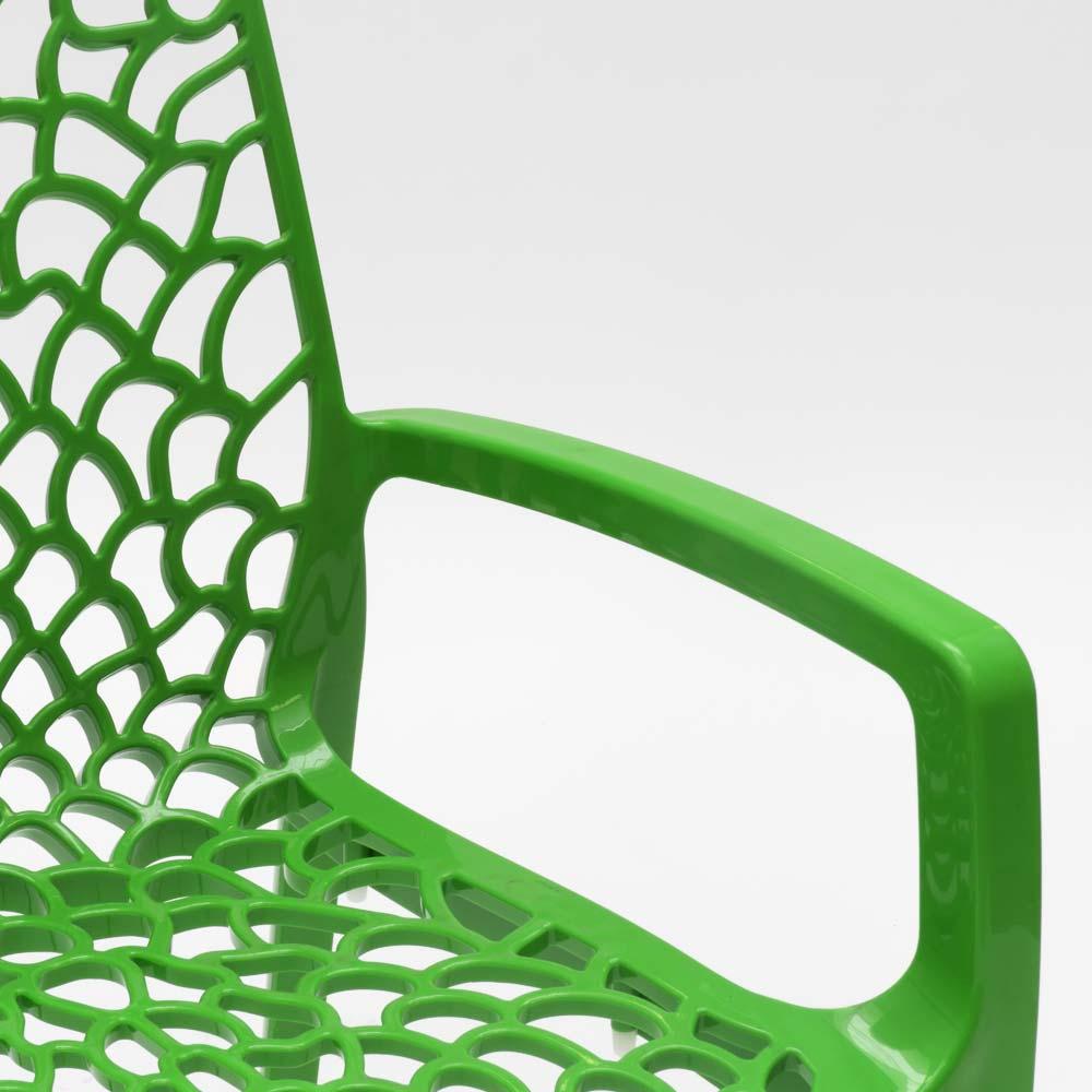 miniature 79 - Chaise en polypropylène accoudoirs jardin café Grand Soleil Gruvyer Arm