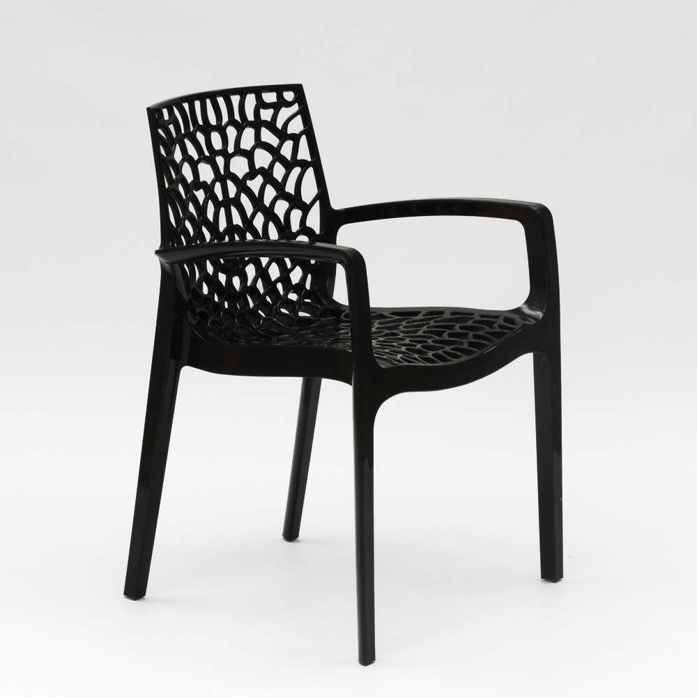 miniature 23 - Chaise en polypropylène accoudoirs jardin café Grand Soleil Gruvyer Arm