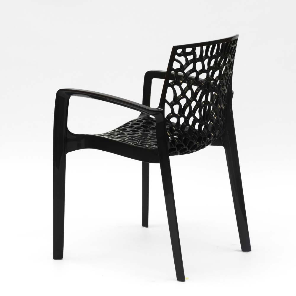 miniature 24 - Chaise en polypropylène accoudoirs jardin café Grand Soleil Gruvyer Arm
